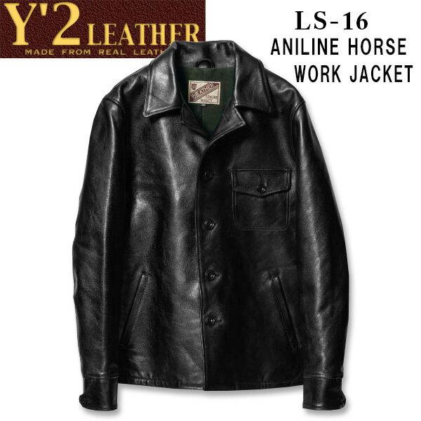 メンズファッション, コート・ジャケット  Y2 LEATHER ANILINE HORSE WORK JACKETLS-16