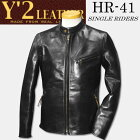 Y'2LEATHER(ワイツーレザー)【HR-41】シングルライダースブラック