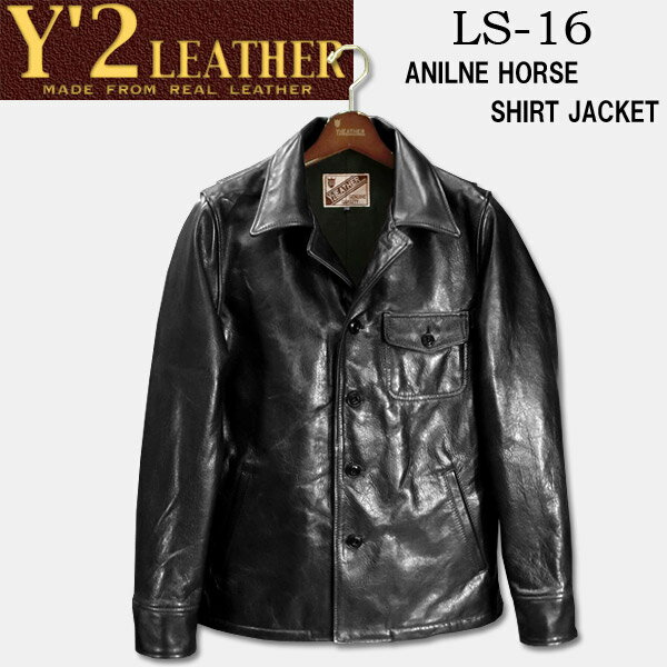 メンズファッション, コート・ジャケット  Y2 LEATHER ANILINE HORSE SHIRT JACKETLS-16