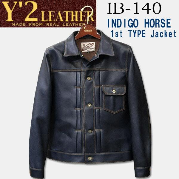 メンズファッション, コート・ジャケット  Y2 LEATHER INDIGO HORSE 1st GGIB-140