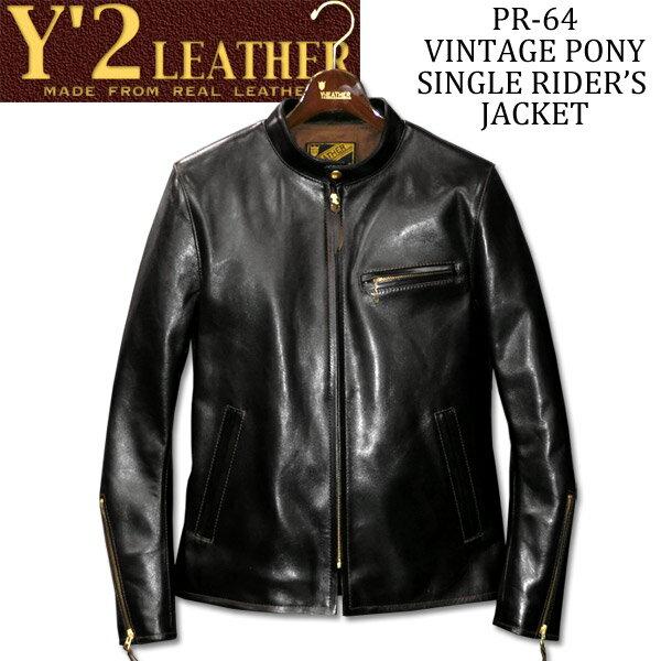 メンズファッション, コート・ジャケット Y2 LEATHER VINTAGE PONY SINGLE RIDERS JKTPR-64