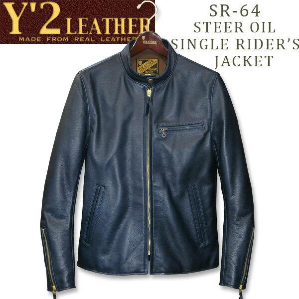 メンズファッション, コート・ジャケット Y2 LEATHER STEER OIL SINGLE RIDERS JKTSR-64