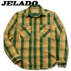 JELADO(ジェラード)長袖チェックネルシャツ(ショート丈)【JP42133】プラム