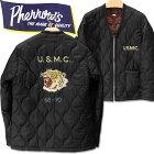 PHERROW'S(フェローズ)リップストップナイロンキルティングジャケットVETNUMJACKET(ベトジャン)【19W-PVQC1】ブラック