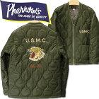 PHERROW'S(フェローズ)リップストップナイロンキルティングジャケットVETNUMJACKET(ベトジャン)【19W-PVQC1】オリーブ