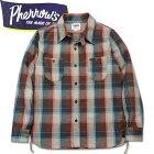 PHERROW'S(フェローズ)長袖チェックネルシャツ【18W-720WS】ベージュ×ブラウン