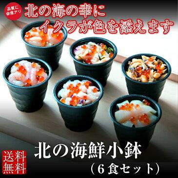 【送料無料】 北の海鮮小鉢 6食セット ほたて つぶ貝 いか たこ 甘えび ほっき貝 夕食 おつまみ 海鮮丼