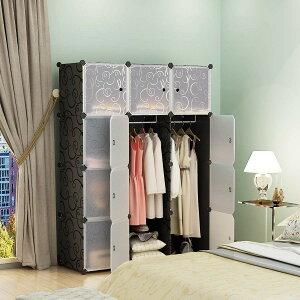 送料無料ワードローブ収納クローゼット吊り下げ収納衣類収納収納ボックス衣装ケース組み立て式扉付き収納ケース