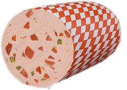 牛舌の角切りとピスタチオが通好みのスライスソーセージ♪ツンゲンヴルスト (200gパック)