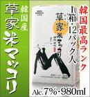 農酒マッコリ(韓国産)960ml紙パック1箱12本入