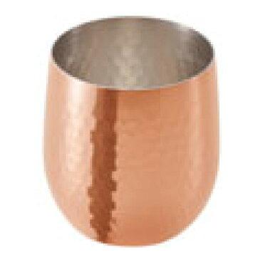 【食楽工房 銅 ロックカップ ダルマ 340ml ミラー仕上 CNE960】 高さ85(mm)【業務用】【グループA】