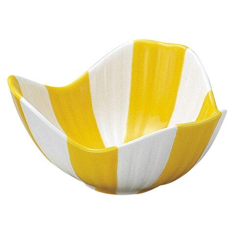 小鉢 【黄釉釉割山椒 4.0小鉢】 高さ60mm×直径:123【業務用】【グループB】