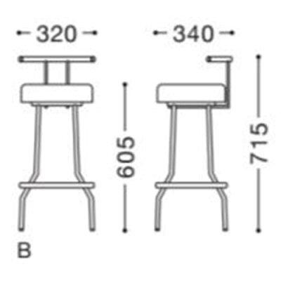 椅子(イス)【C-601Bイス張地ランクA】CHERRY(チェリー)幅320mm×奥行340mm×高さ715mm【業務用】【新品】【送料無料】