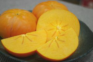太天柿(たいてんがき)通販愛媛県周桑産福嘉来ふくがきを販売お歳暮ギフトに。糖度15度以上3玉果皮擦れ・傷あります