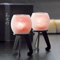 和光灯進物用ピンク菊水(1対入)b