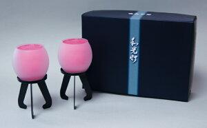 和光灯進物用ピンク菊水(1対入)