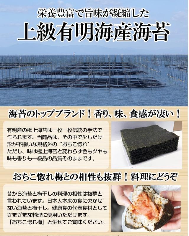 海苔 訳あり 焼き海苔 のり 有明産 全型 30枚  ポイント消化 おちこ惚れシリーズ