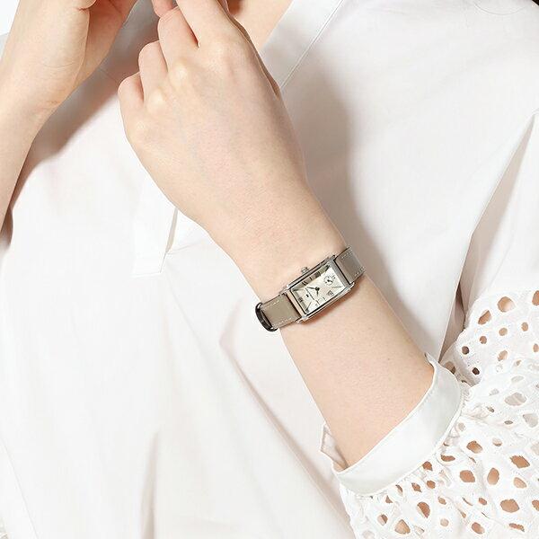 ハミルトン公式腕時計HAMILTONAmericanClassicArdmoreアメリカンクラシックアードモアクオーツ18.70MMレザーベルトシルバー×ベージュH11221514レディース腕時計女性正規品ブランドビジネスシンプル