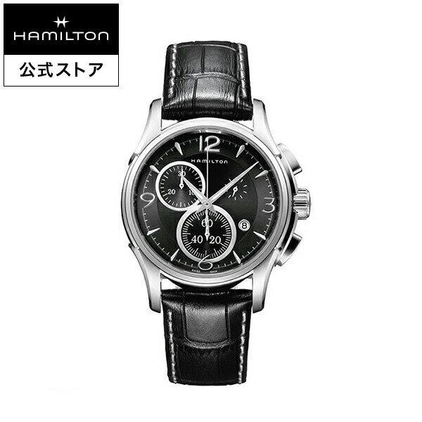 ハミルトン 公式 腕時計 Hamilton Jazzmaster Chrono Quartz ジャズマスター クロノ クォーツ メンズ レザー | 正規品 時計 メンズ腕時計 クロノグラフ 革ベルト ウォッチ おしゃれ watch クオーツ 革 男性 メンズ時計 黒 10気圧防水 ブラックバンド 男性用腕時計