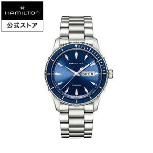ハミルトン 公式 腕時計 HAMILTON Jazzmaster Seaview Day Date ジャズマスター シービュー デイデイト クオーツ 42.00MM ステンレススチールブレス ブルー × シルバー H37551141 メンズ腕時計 男性 正規品 ブランド ビジネス シンプル