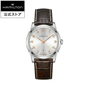 ハミルトン 公式 腕時計 HAMILTON Jazzmaster Thinline ジャズマスター シンライン クオーツ クォーツ 42.00MM レザーベルト ホワイト × ブラウン H38511513 メンズ腕時計 男性 正規品 ブランド ビジネス シンプル