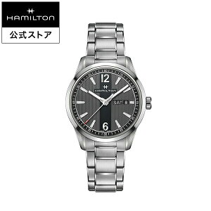 ハミルトン 公式 腕時計 HAMILTON Broadway Day Date ブロードウェイ デイデイト クオーツ 40.00MM ステンレススチールブレス ブラック × シルバー H43311135 メンズ腕時計 男性 正規品 ブランド ビジネス シンプル