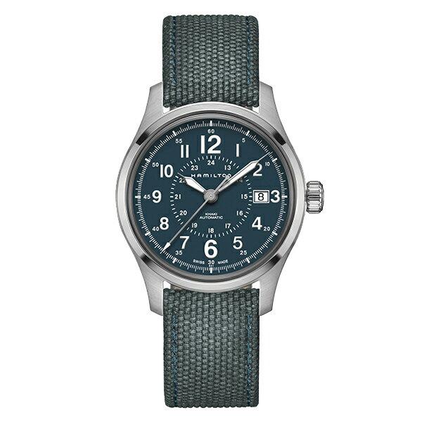 【ハミルトン 公式】 Hamilton Khaki Field カーキ フィールド オート メンズ テキスタイル | 男性 腕時計 時計 ウォッチ ウオッチ watch ブランド メンズ腕時計 男性用腕時計 男性腕時計 メンズウォッチ ブランド腕時計 ベルト ビジネス ギフト プレゼント