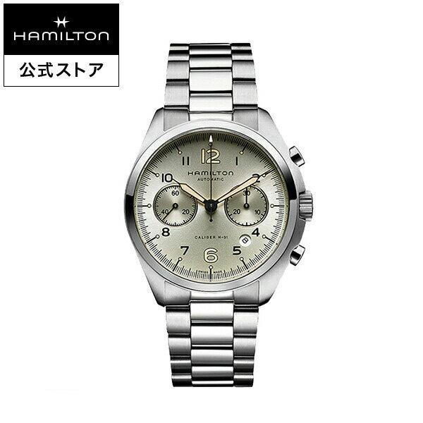 Hamilton ハミルトン 公式 腕時計 Khaki Pilot Pioneer カーキ アビエーション パイロット パイオニア オートクロノ メンズ メタル | 正規品 時計 メンズ腕時計 ブランド ブレスレットウォッチ ウォッチ パイロットウォッチ アビエイション 紳士 男性 メンズウォッチ