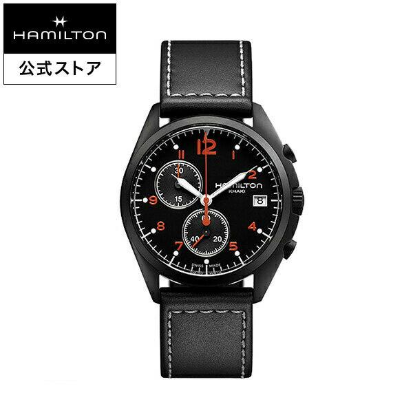 ハミルトン 公式 腕時計 Hamilton Khaki Pilot Pioneer カーキ アビエーション パイロット パイオニア クロノ メンズ レザー | 正規品 時計 メンズ腕時計 ブランド 革ベルト ウォッチ ブランド腕時計 パイロットウォッチ watch アビエイション 紳士 革 メンズウォッチ