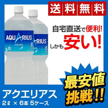 【全国送料無料】アクエリアス 2lペットボトル(6本×5ケース) AQUARIUS 2L PET コカ・コーラ スポーツ飲料