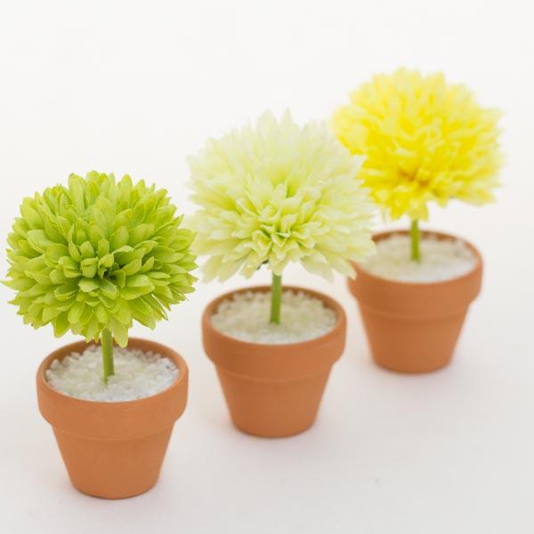 ミニミニ トピアリーアートフラワー 造花 ギフト プレゼント消臭抗菌 光触媒 テルクリン 選択可能高さ10cm×直径6cmかわいい透明ケース付
