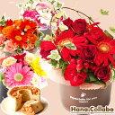 花 ギフト アレンジ プレゼント 受付 誕生日プレゼント 女性 花 お祝い 出産祝いギフト 内祝い ギフトセット フラワーアレンジメント 結婚祝い 贈り物 花とスイーツ 送料無料 メッセージカード 花束 あす楽 AB