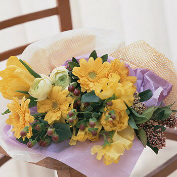 送料無料 お中元 開店祝い 合格祝い プレゼント おまかせ 黄色オレンジ系 花束 合格祝い 花 人気ランキング 花ギフト 花束 結婚記念日 (就任 送別 誕生日 などにも) バラ 就任 送別 17 花束