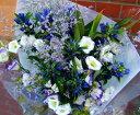 いい夫婦の日 御祝 開店祝い プレゼント おまかせ 紫、ホワイト系花束 いい夫婦の日 御祝 開店祝いギフト お祝い 花 人気ランキング 花ギフト 花束 結婚記念日 (就任 送別 誕生日 などにも) バラ 還暦 21 花束