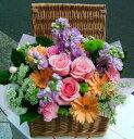 誕生日 開店祝い 送料無料 おまかせ!ミックス色フラワーアレンジメント 花ギフト いい夫婦の日 (就任 送別 誕生日 などにも) お祝い 43