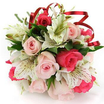 送料無料 お中元 開店祝い 開院祝い プレゼント おまかせ ころっ、ピンクブーケ 花束 開院祝い ブーケ 花 人気ランキング 花ギフト 花束 結婚記念日 (就任 送別 誕生日 などにも) バラ 就任 送別 69 花束