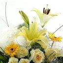 送料無料誕生日卒業送別 開院祝い プレゼント おまかせ 黄色オレンジ系フラワーアレンジメント 花 人気ランキング 花ギフト 花束 結婚記念日(就任送別 誕生日 などにも) バラ 就任送別 83