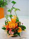 いい夫婦の日 御祝 開店祝い プレゼント おまかせ 黄色オレンジ系フラワーアレンジメント 花 人気ランキング 花ギフト 花束 結婚記念日 (就任 送別 誕生日 などにも) バラ 還暦 90