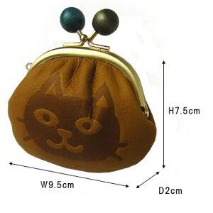 box21ボックス21がま口財布レディース日本製牛革0331310juju&beckミニ財布小さい財布猫柄ねこ