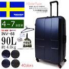 イノベータースーツケースINV68innovator容量90L/約4.8kg(4泊〜7泊)キャリーバッグキャリーケースフレームタイプ