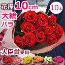 【バラの花束】薔薇 結婚記念日 誕生日 ホワイトデー プレゼント 妻 プロポーズ 本数指定 大輪(10本?)【送料無料】