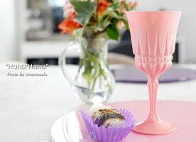 カラーズ/ピンクインポーター赤ワイングラス170mlガラス漆加工