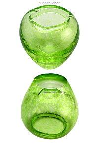 津軽びいどろアミューズアオモリボウル7.5cmアップル型グリーン