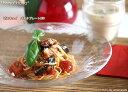 (再入荷)ガラス ビスキュイ パスタ皿 24cm 皿 冷製パスタ皿 【当店で3,000円(税込)以上お買い上げで送料無料】