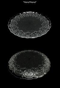 コンテスホールケーキプレート28cmクリアガラス
