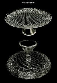 コンテスケーキスタンド28cmクリアガラス