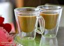 人気の二重耐熱ガラス☆耐熱ダブルガラス コスタリカコーヒーカップ 80ml