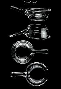 ガラスアミューズプチ片手フライパン型ボウル