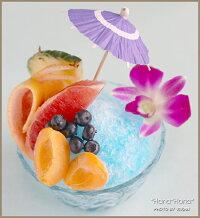 ソワールガラスかき氷ボウル(小鉢)ブルーハワイ