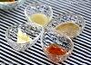 ティアラハートガラスしずく型豆鉢9cm
